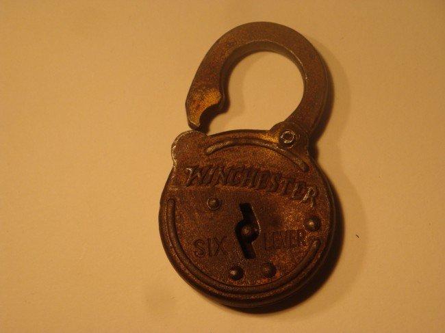 6: Winchester Six Lever Padlock