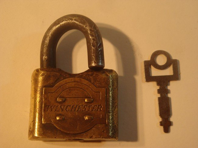 8: Brass Winchester Padlock