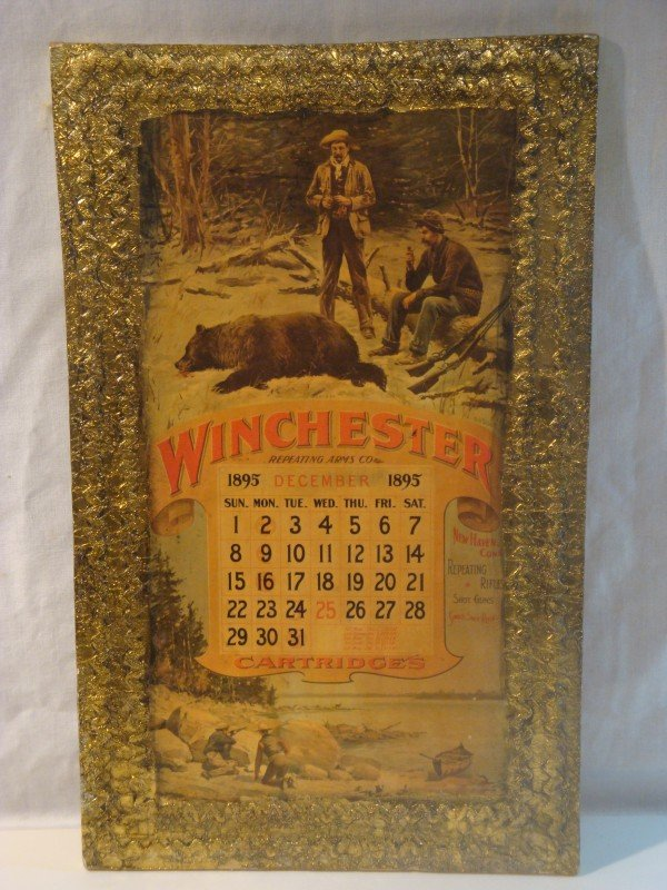 22: 1895 Winchester Repeating Arms Calendar