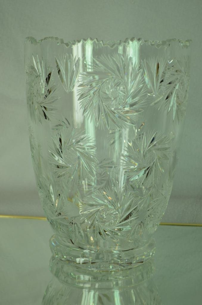 1: American brilliant Cut Crystal Vase