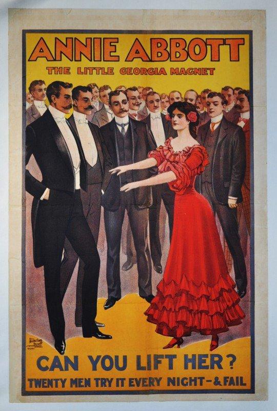 1: ABBOTT, ANNIE.  Stone lithograph poster