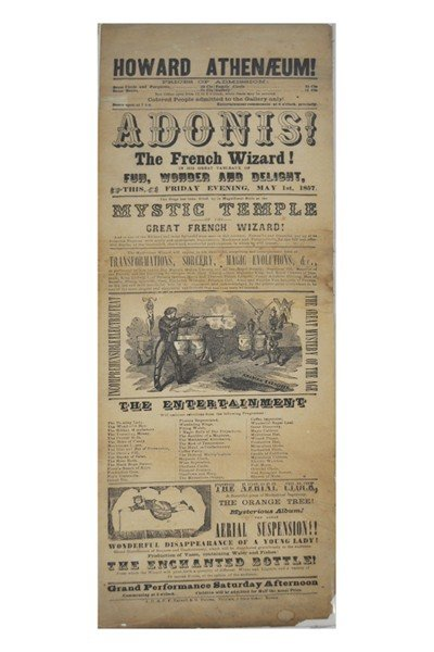 2: ADONIS. The French Wizard, broadside