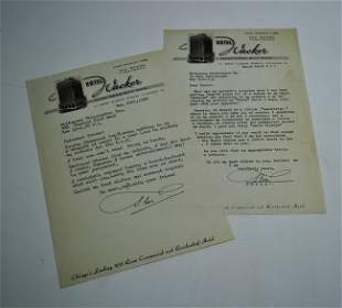 22: BAMBERG (OKITO) THEO.  Two SIGNED typed letters