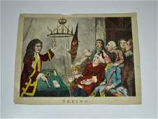 "215: PRINT, ""SEEING"" 18th Century engraving. Fawkes"