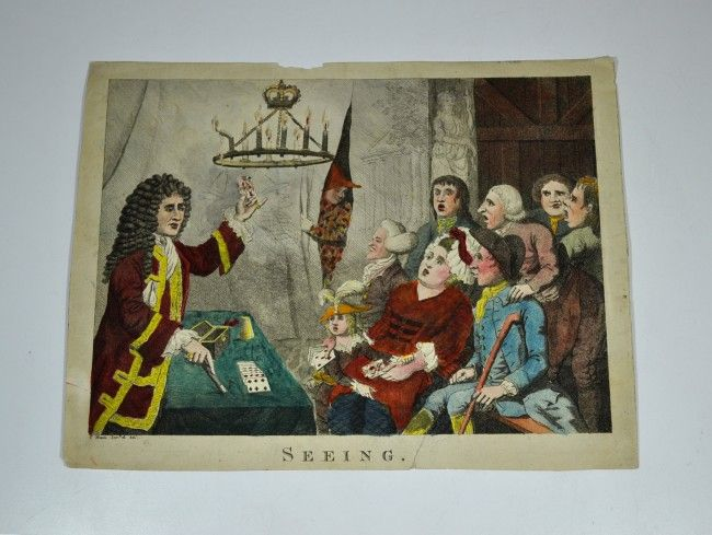 "PRINT, ""SEEING"" 18th Century engraving. Fawkes"