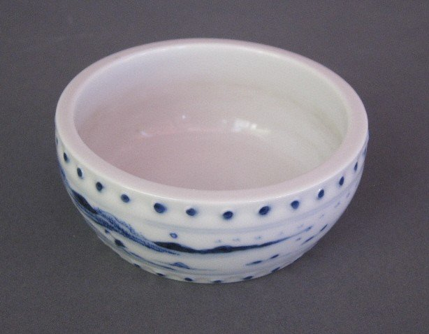 16: ANTIQUE ORIENTAL PORCELAIN BRUSH POT