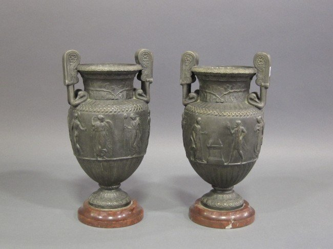 11: PAIR GRAND TOUR NEO-CLASSICAL URNS