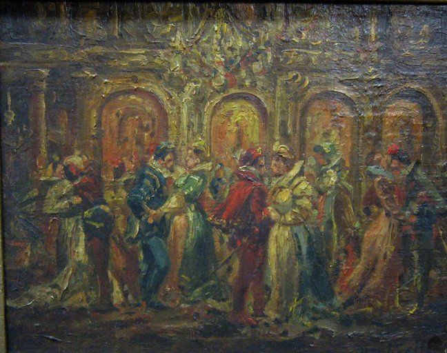 15: Monticelli:  19th Century Oil on Panel