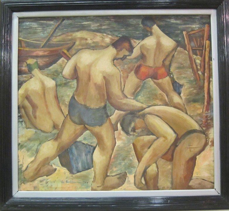 72: Lieberman:  20th C Oil on canvas