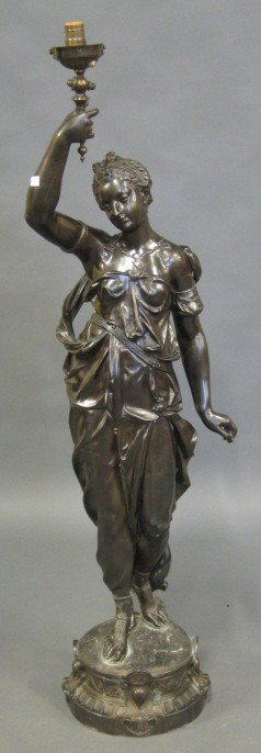 1: TALL METAL FIGURAL TORCHIERE