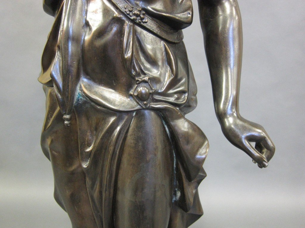 1: TALL METAL FIGURAL TORCHIERE - 4