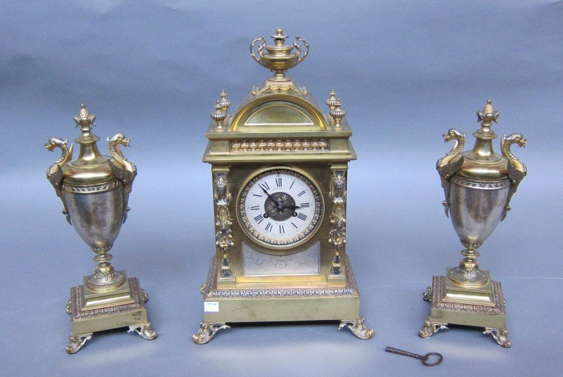 4: LATE 19TH C. ELKINGTON CLOCK SET
