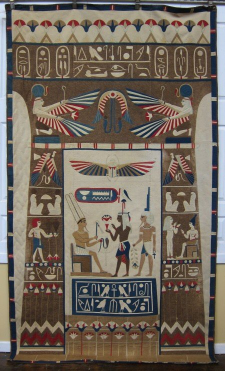 22: 1920'S SEMI-ANTIQUE EGYPTIAN TAPESTRY