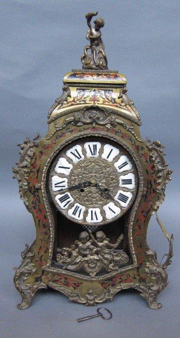 23: BOULLE WORK MANTEL CLOCK