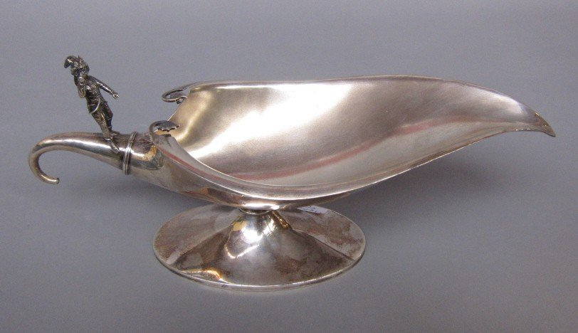 13: ANTIQUE WHITING STERLING SAUCIER