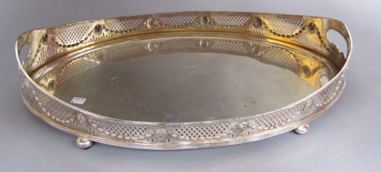20: FINE 19TH C. SILVER PLATED BUTLER'S TRAY