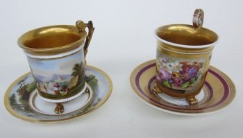 153: 19TH CENTURY CUPS AND SAUCERS