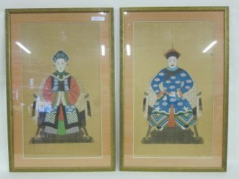 161: PAIR OF ANCESTRAL PORTRAITS