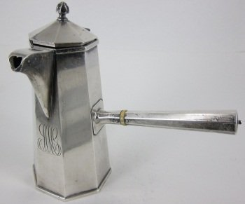 368: STERLING SILVER CHOCOLATE POT
