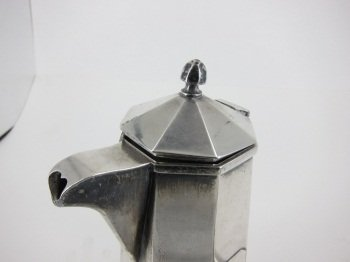 368: STERLING SILVER CHOCOLATE POT - 2