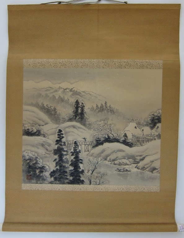 161A: ORIENTAL PAINTED SCROLL