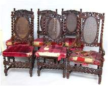 555 SET SIX DINING CHAIRS