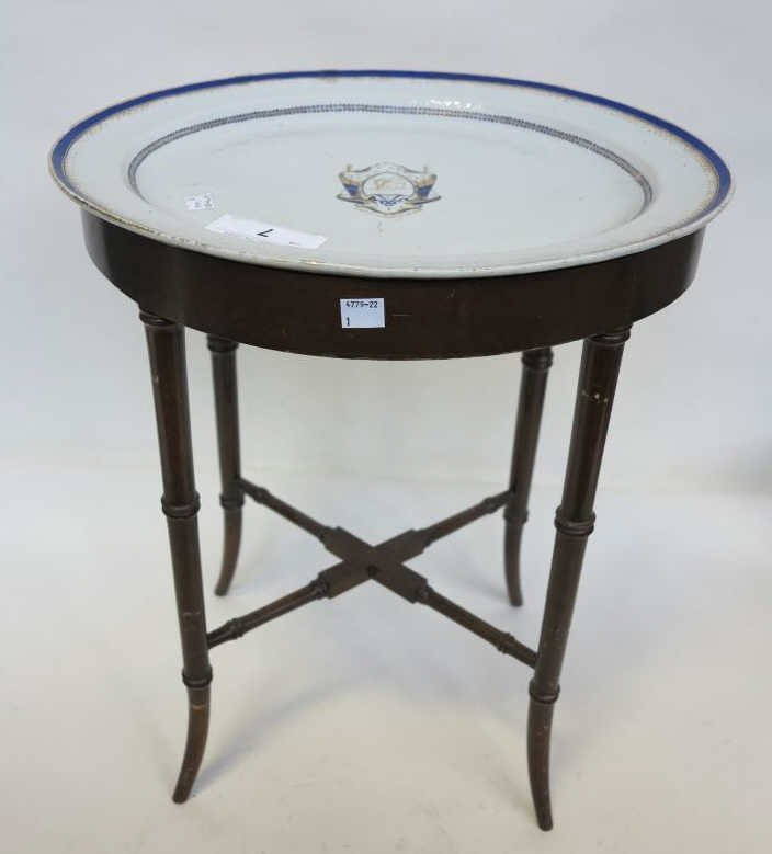 7: EXPORT PORCELAIN TRAY TABLE
