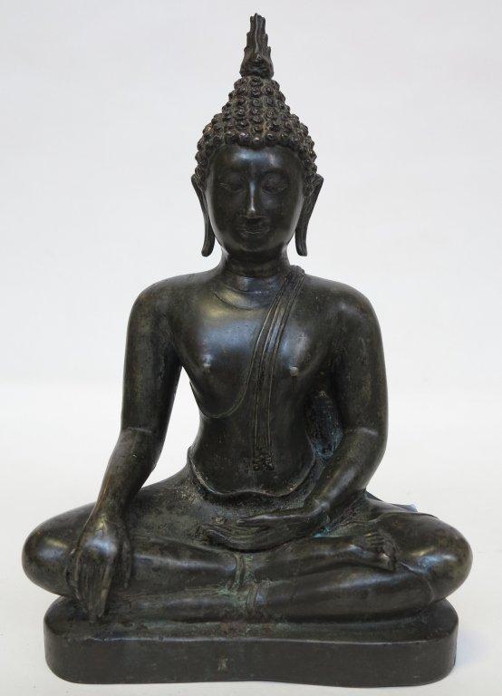 10: BRONZE BUDDHA FIGURE