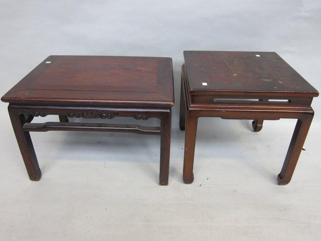 17: PAIR ORIENTAL LOW TABLES
