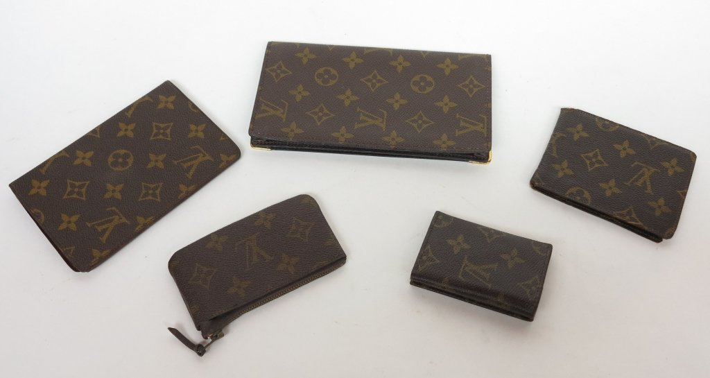 203: LOUIS VUITTON GROUP OF FIVE ACCESSORIES
