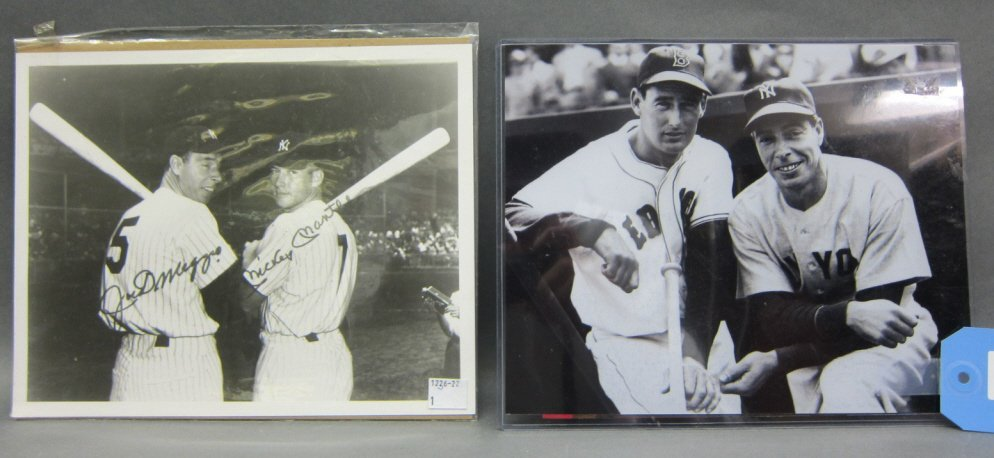 JOE DiMAGGIO & MICKEY MANTLE SIGNED PHOTOGRAPH