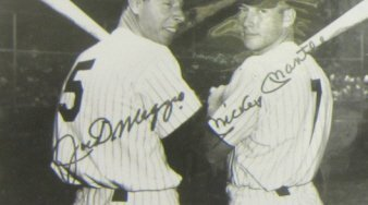 JOE DiMAGGIO & MICKEY MANTLE SIGNED PHOTOGRAPH - 2
