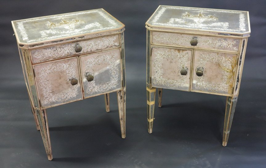 PAIR OF VENETIAN COMMODE STANDS