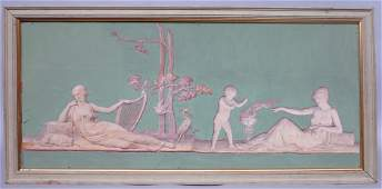 ANTIQUE NEOCLASSICAL OIL PAINTING