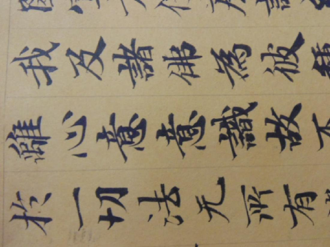 Chinese scroll, banner, extensive calligraphy - 10