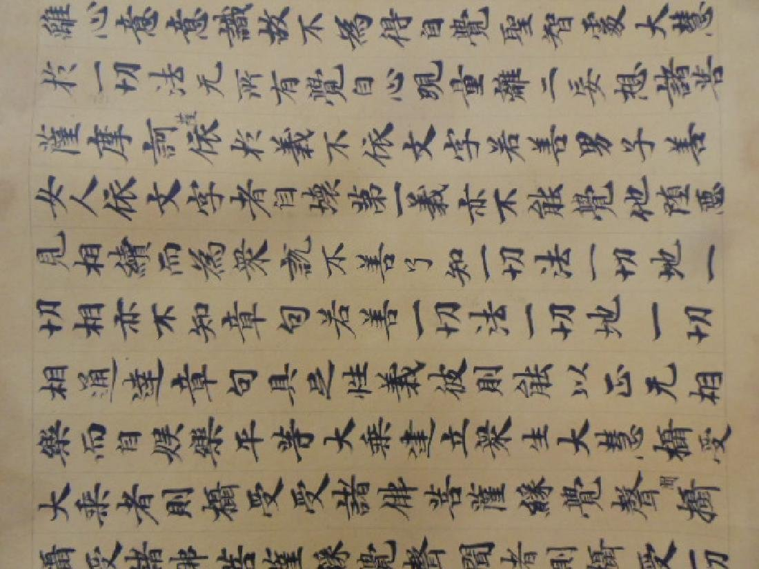 Chinese scroll, banner, extensive calligraphy - 5