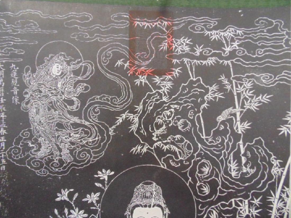 Chinese scroll,  Buddha in black & white - 3