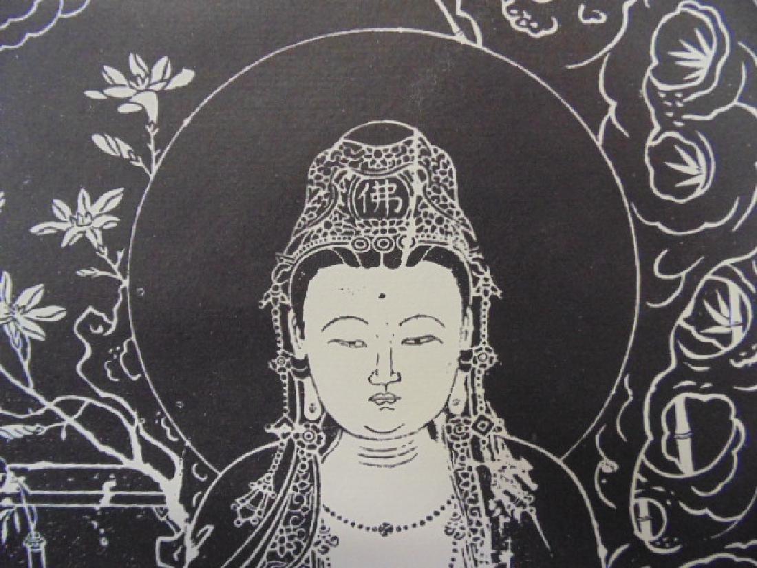 Chinese scroll,  Buddha in black & white - 4