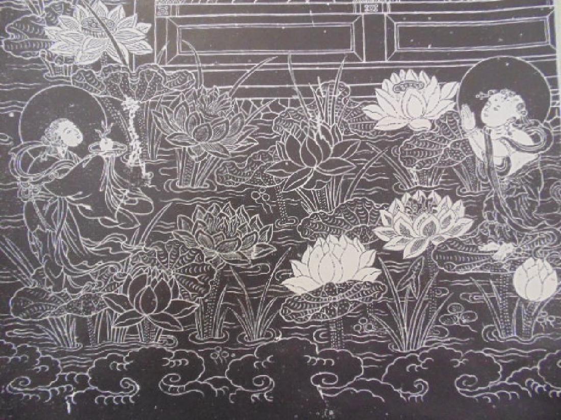 Chinese scroll,  Buddha in black & white - 6