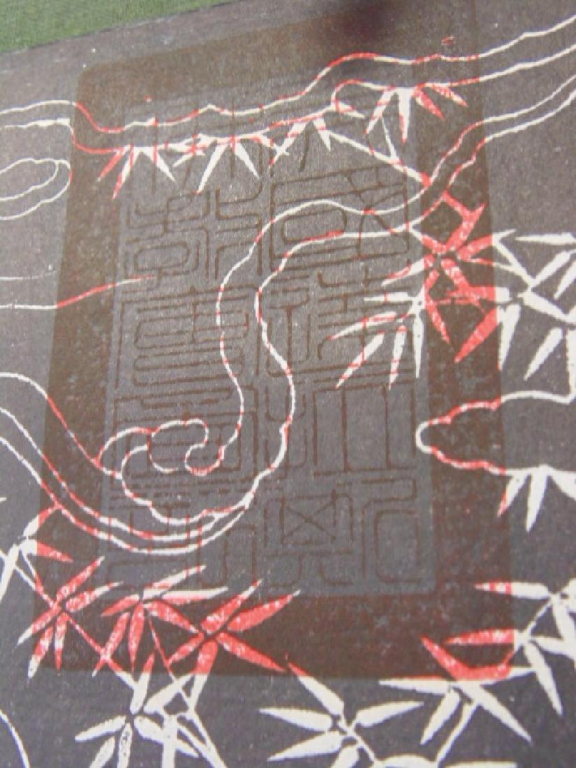 Chinese scroll,  Buddha in black & white - 9