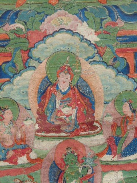 Antique Thangka, Buddha & various figures - 7