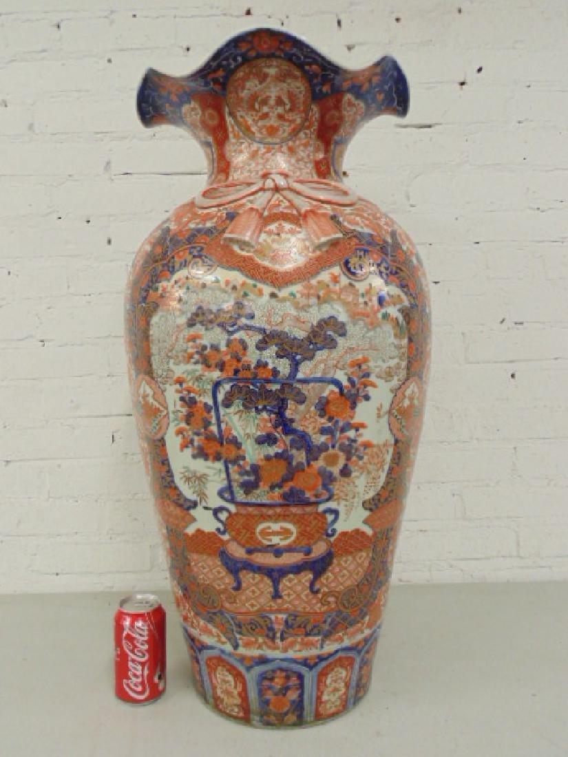 Large Japanese Imari urn, palace vase