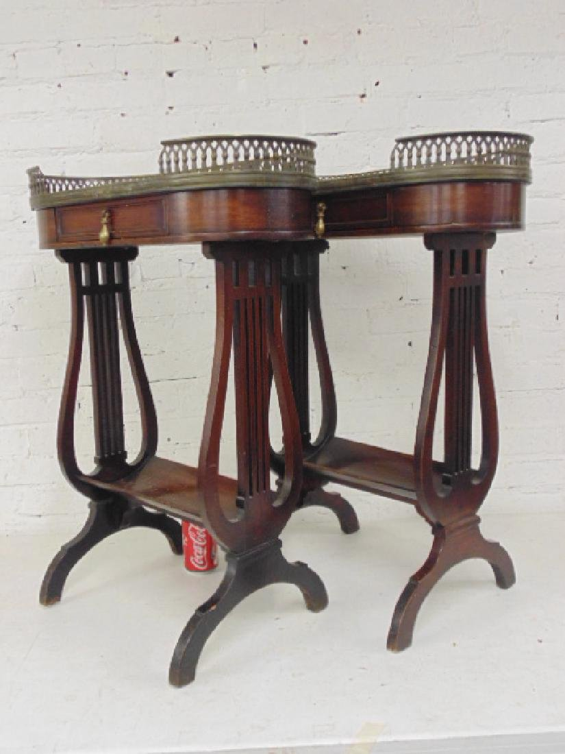 Pair lyre base, Roosevelt Hotel NYC stands - 4