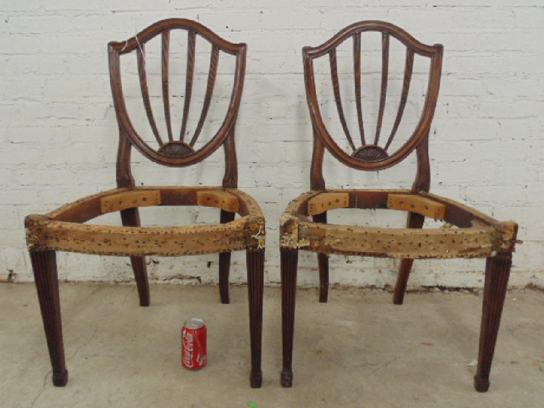 Pair period chair frames, no seats