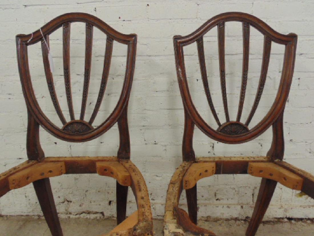 Pair period chair frames, no seats - 2