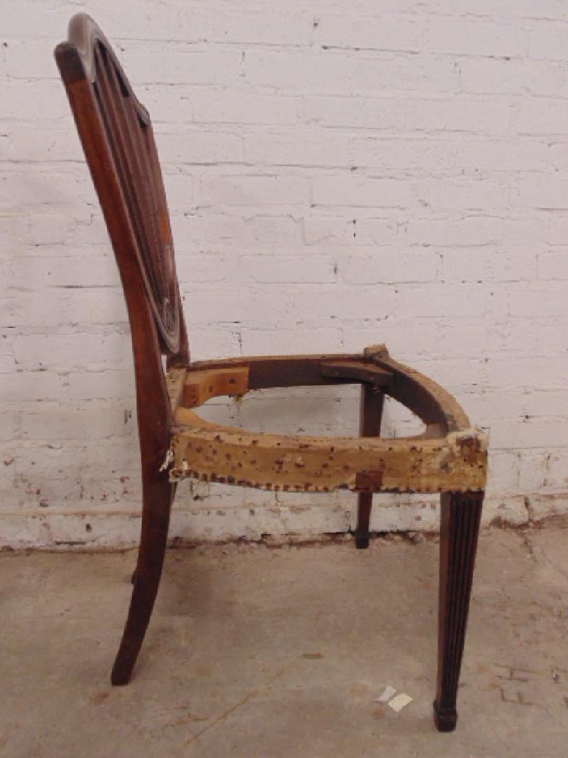 Pair period chair frames, no seats - 6