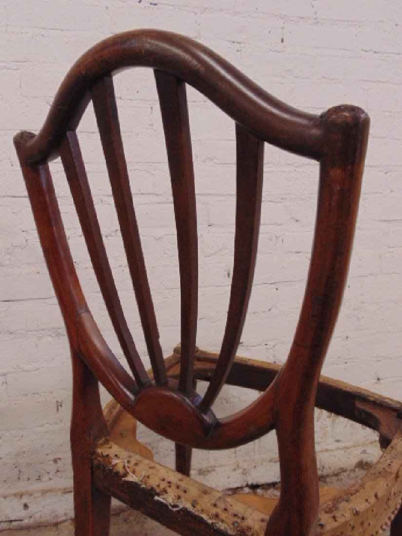 Pair period chair frames, no seats - 7
