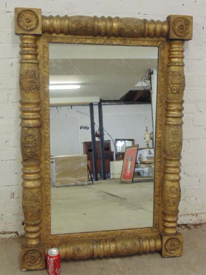 Antique gilt framed mirror - 2