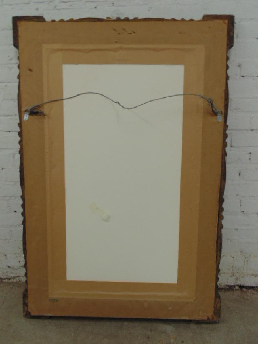 Antique gilt framed mirror - 6
