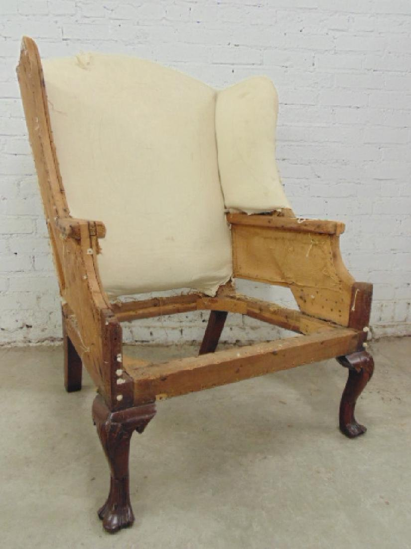 Period wing chair frame, Chippendale feet - 2